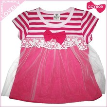 Make to order latest design summer baby pure cotton pink net frock and dresses