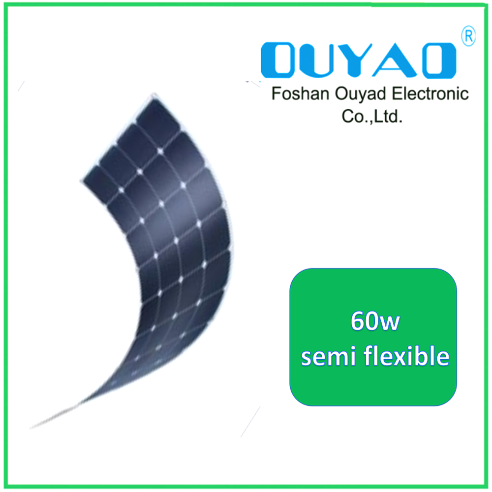 High efficiency Sunpower cell 60W Semi Flexible solar panel from China