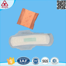 Popular sanitary pads negative ion sanitary napkin with green ADL