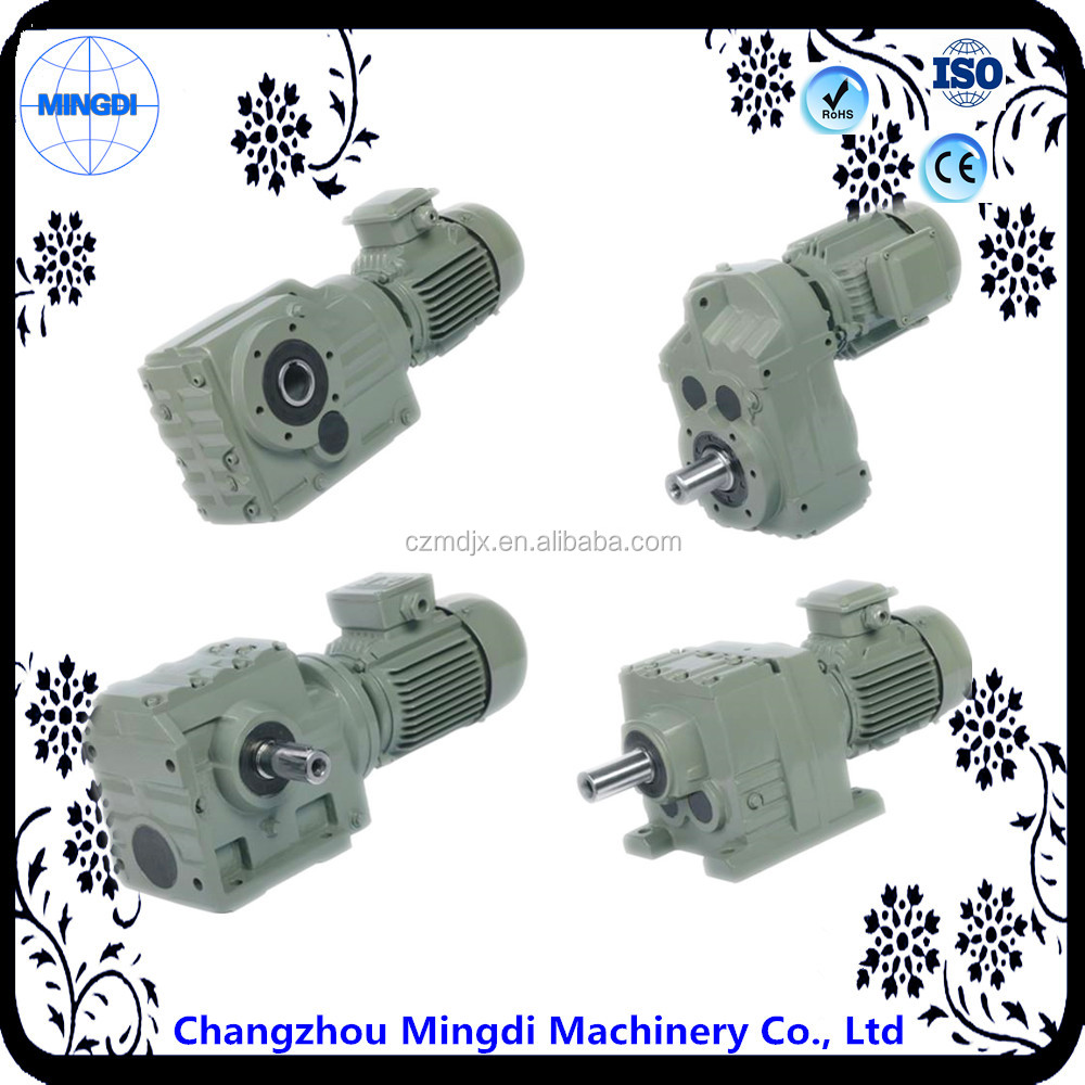 K Series Bevel / Miter Gearing Transmission Parts Reducer Gear box With Electric Motor Engine for Atvs