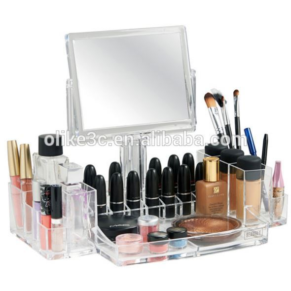 acrylic material acrylic drawer organizer/acrylic lucite clear makeup organizer with drawers
