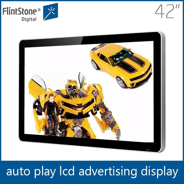 "42"" apple shape wall mounting large size LCD monitor, 42"" touch screen tv monitor, store digital loop video player POP display"