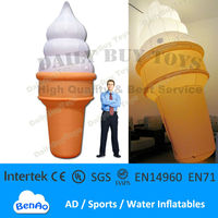 DC07 Hot !!! 13' 4m Inflatable luminous Lighted Ice Cream Balloon Advertising Promotion Repair Kits and Blower