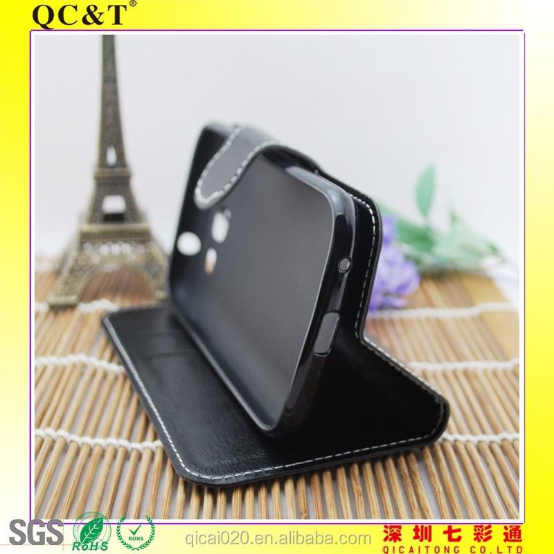 Hot Cute Wallet Flip Stand TPU+PU Leather Case / TPU stitching leather case For i8552 Win