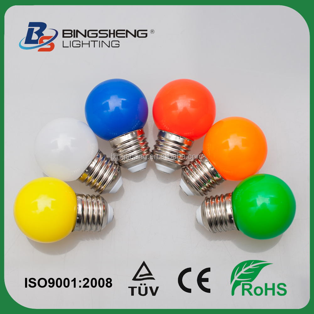 christmas light bulb E27 b22 1w mini led bulbs G45 led colorful bulb