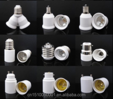 Plastic lamp holder adapter GU10 to E27 GU24 to E27 adapter CE approved