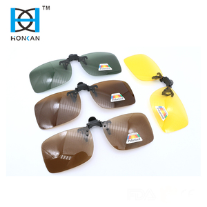 Night vision glasses and polarized clip on sunglasses