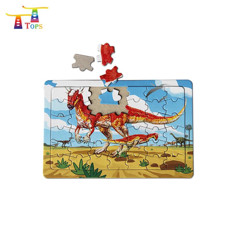 Early teaching puzzles paper alphabet and animals jigsaw puzzle