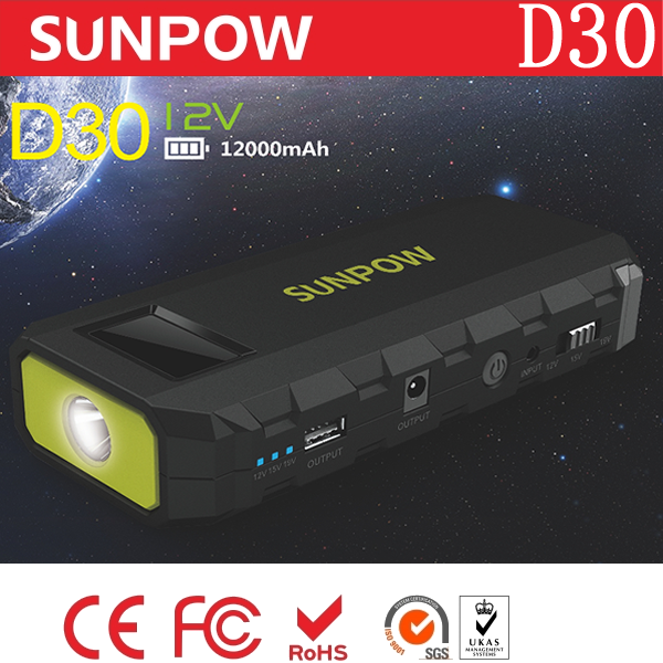 SUNPOW jumper cable power bank super mini booster