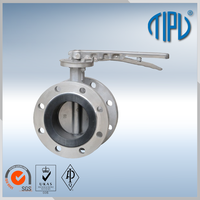 electric actuator hand brake butterfly valve for industrial use