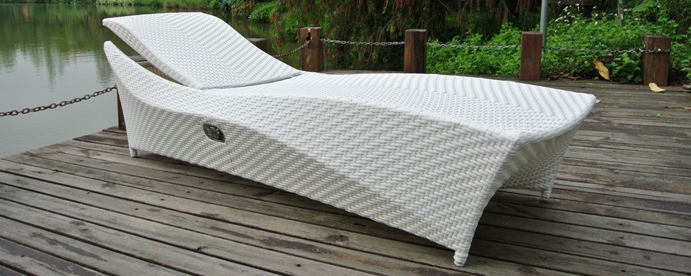 ZT-4043L lastest design rattan chaise lounge