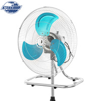 "Hot Sale Home Appliance Aluminum Blade Strong Wind 16"" Inch 220V Cooling Electric Floor Stand Pedestal Fan"