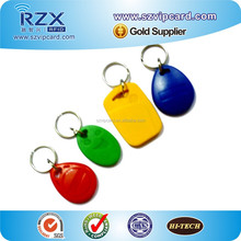 Hot Selling!!T5577 Low Frequency RFID Keyfob Environmental Material ABS keytags