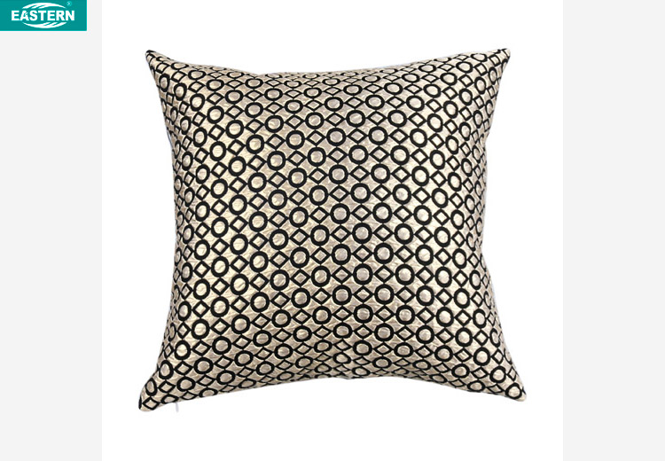 metallic shinning cushion new popular fancy decorative pillow covers jacquard fabic with good price