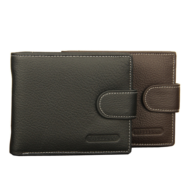 New Arrival Genuine Leather Men Wallets Black Brown Designer Quality Hasp Coin Pocket Card Holder Purse Wallet