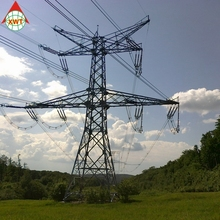 20kv-66kv power transmission electric galvanized tubular steel tower