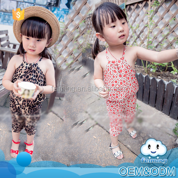 Wholesale kids clothing classical hang neck personality children clothing set brand fashion girls boutique clothing spring 2016