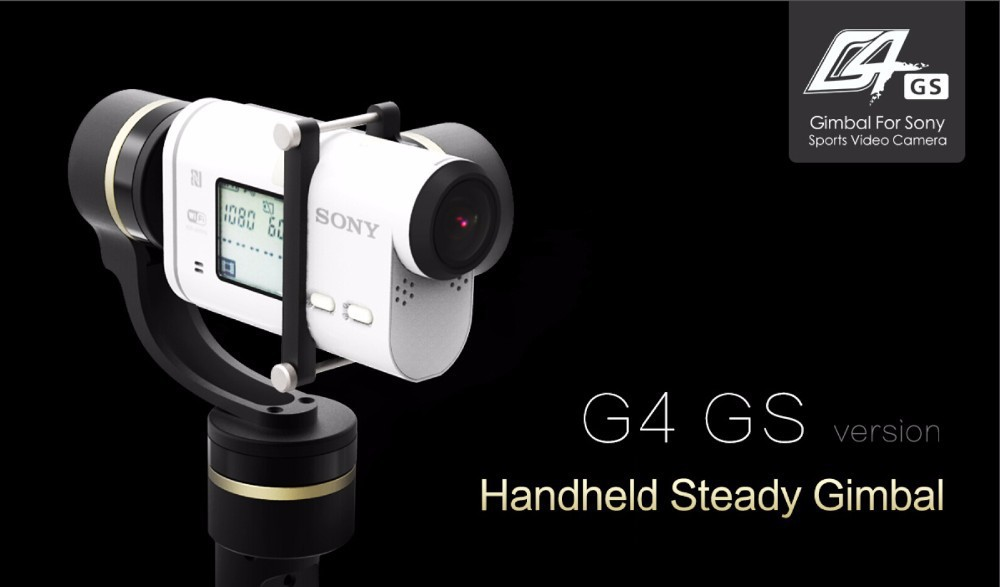FY G4 GS 3 axis hand held gimbal for sony action cam, 4k model, x1000v,AS100V,AS200v X1000V and other similar dimensions