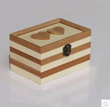 Mutual affinity wooden jewelry box handmade
