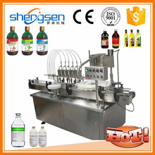 Small Footprint Syrup Bottle Filler Machine