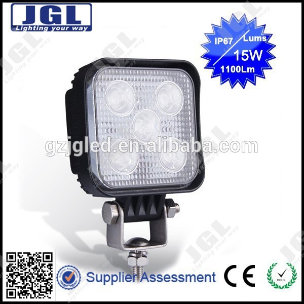 4x4 cars accessories ip67 off road led outdoor light 15w 10-30v led working light for motorcycles,auto parts,SUV