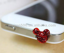 Crystal Micky phone dust plug