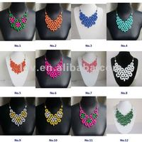 2012 Newest bib statement wholesale alloy beads pendant scarf autumn necklace jewelry big chunky briolette necklaces wholesale