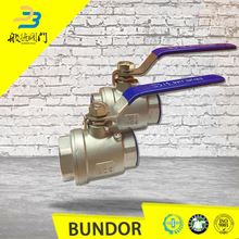Wcb ss304 150lb flange two piece female thread ball valve