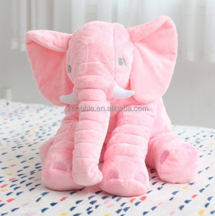 Custom elephant pillow toy with big ears wholesale soft stuffed plush elephant pillow