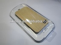 mobile phone wood case for iphone4 4s back wooden case