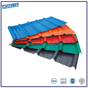 Heat insulated easy installation corrugated plastic pvc plastic decorative wave roof ridge sheet tile for shed