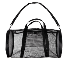 High quality mesh Sport Gym shoulder roll Bag Mesh Duffel Bag with tote handle