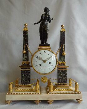 Antique bronze clock