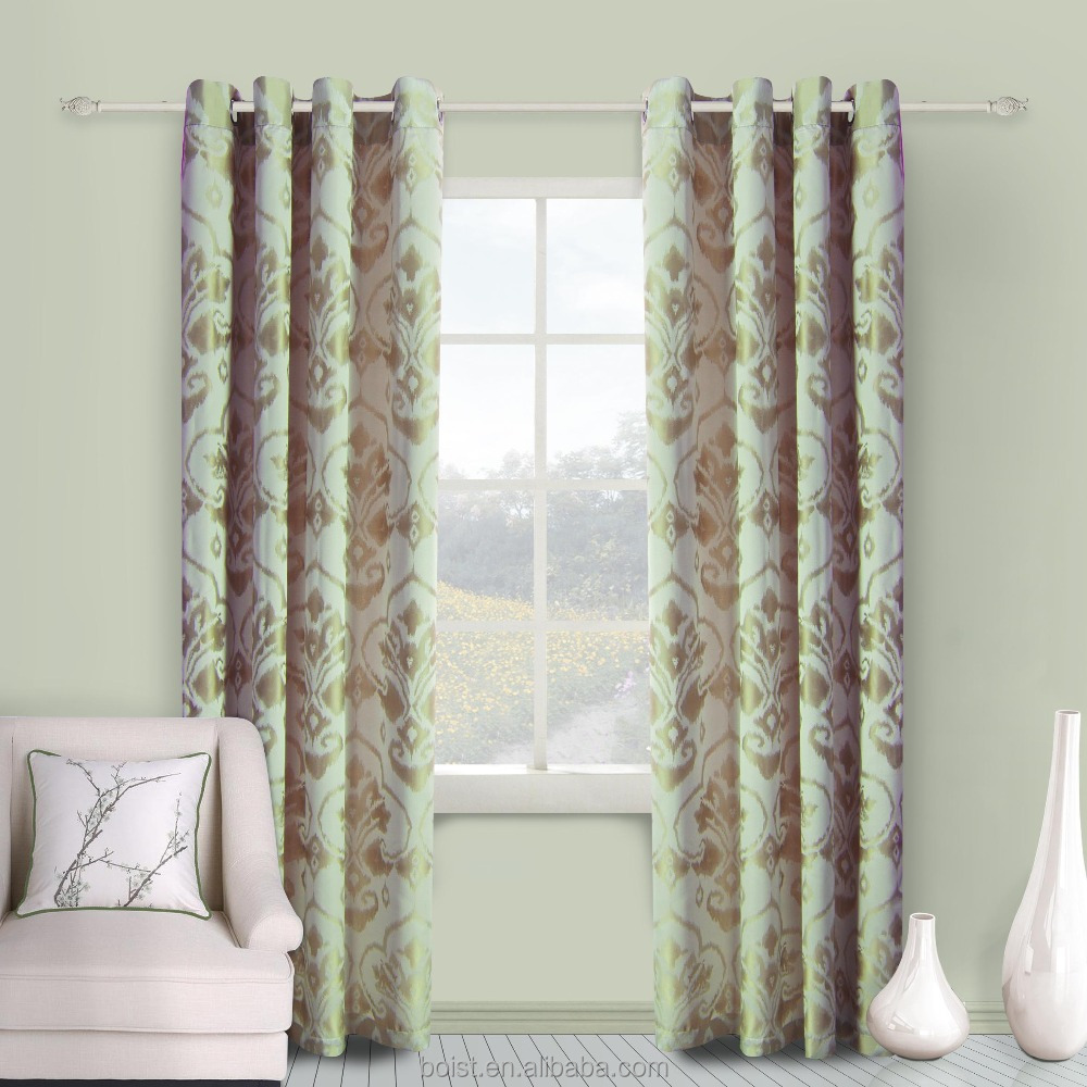 Hot sale Jacquard design 100% Polyester window curtain