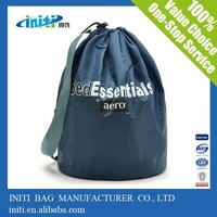 Multi color 190T 210D student shopping polyester drawstring bag