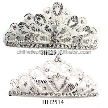 HH2513-2514 Wholesale Stock Pearl Metal High Quality Wedding Crowns and Tiaras