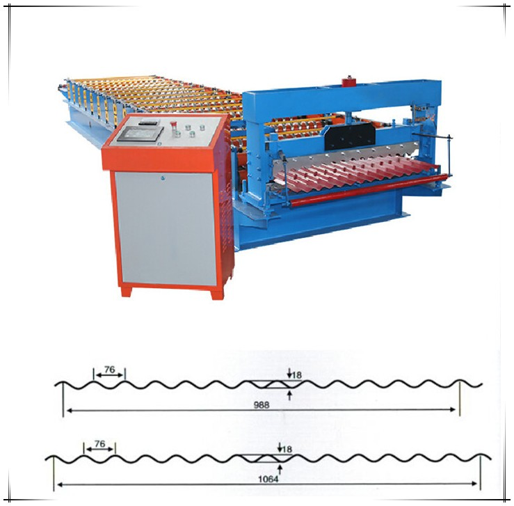 Metal Sheets Corrugated Roofing Making Machine Factory