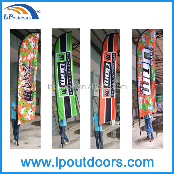 2016 football club outdoor custom logo flags beach flags for event