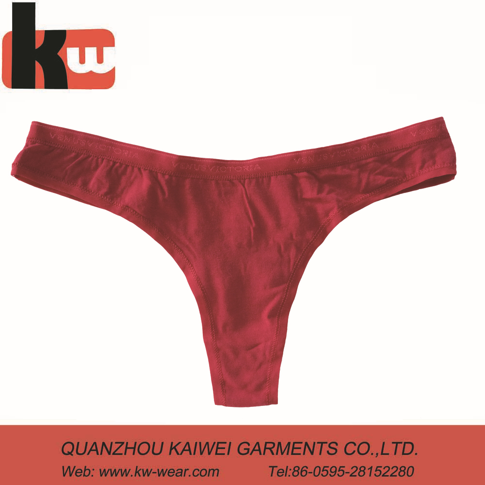 Pure Red Color Kids Thong Biniki Underwear Wholesale for Girls