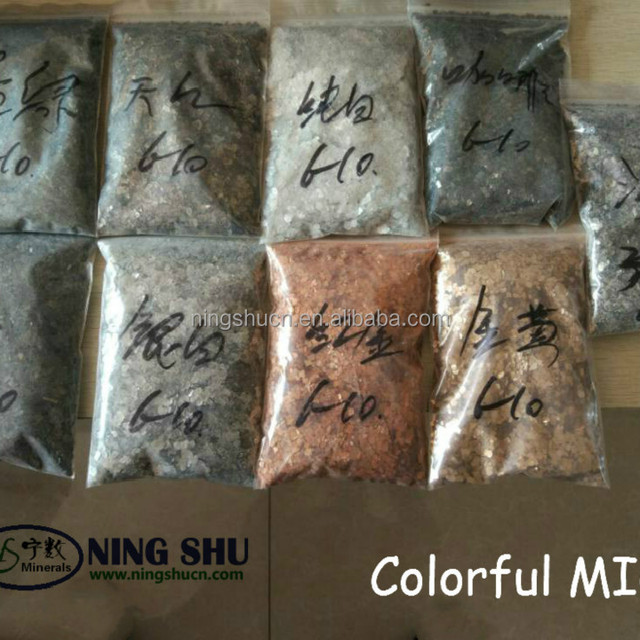 Mineral Epoxy Floor Colorful mica scrap in building materials industries