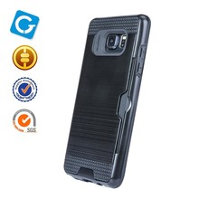 Electronic classical hair line cover wire drawing tpu+pc 2 in 1 hard phone case for samsung galaxy note 7 N9300