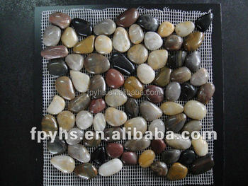 mixed river rocks for paving