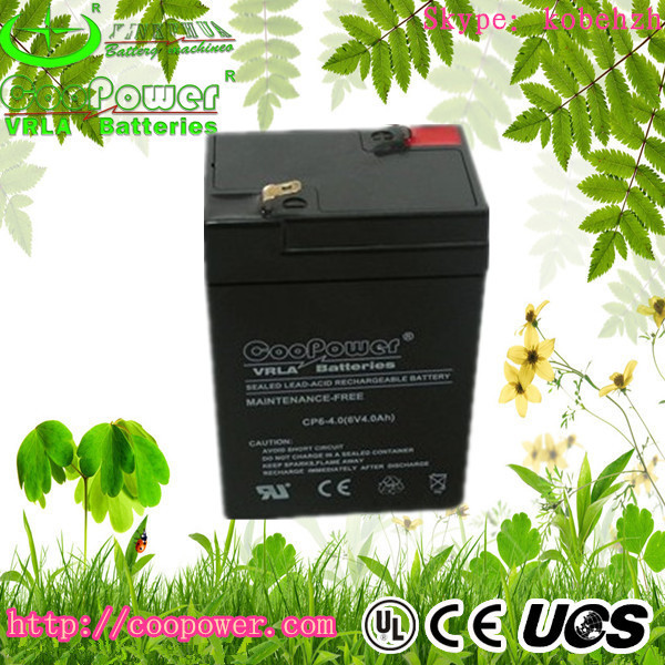 Shenzhen 6v4ah Sealed Lead acid storage battery,ups battery,emergency battery