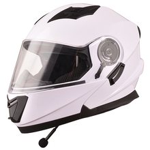 DOT flip up cascos Modular motorcycle Helmet with bluetooth intercom