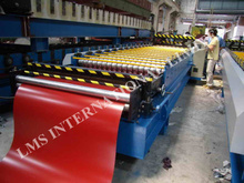 LMS Color steel roofing roll forming machine , Wall panel cold rolling mill