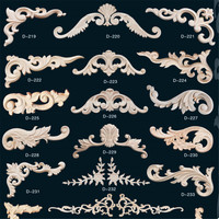 Indoor wood decorative onlays and furniture appliques