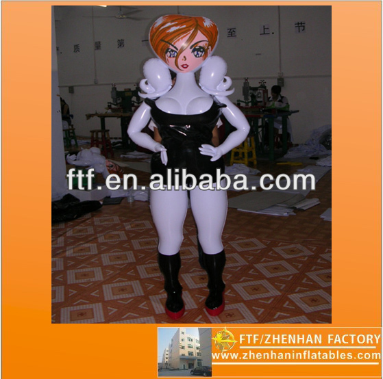 2013 hot sale advertising toy 1.8 m H PVC inflatable Fashion models