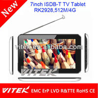 Factory made cheap android 7'' tablet 4g digital tv