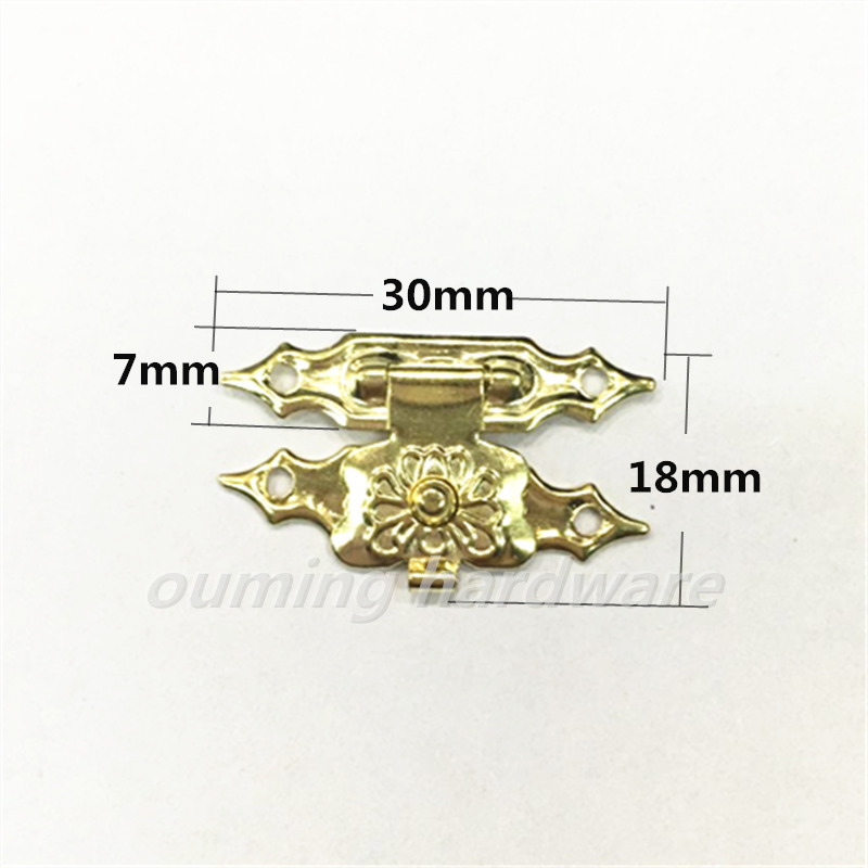 Small Metal Brass Plated Decorative Lock For Wooden Box Gift Box Lock