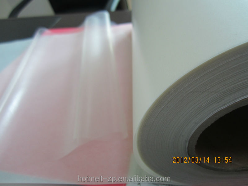polyurethane hot melt adhesive film for garments